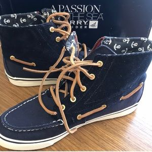 NIB Sperry high tops